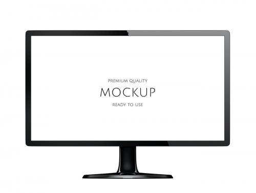 Three dimensional image of computer monitor mockup - 322571