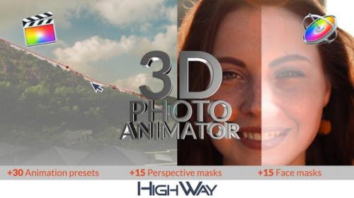 Videohive - 3D Photo Animator for FCPX - 26543829