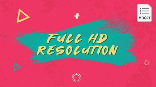 Videohive - Draw Colorful Opener - MOGRT - 27785168