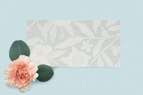 Camelia on a floral card mockup - 1212343