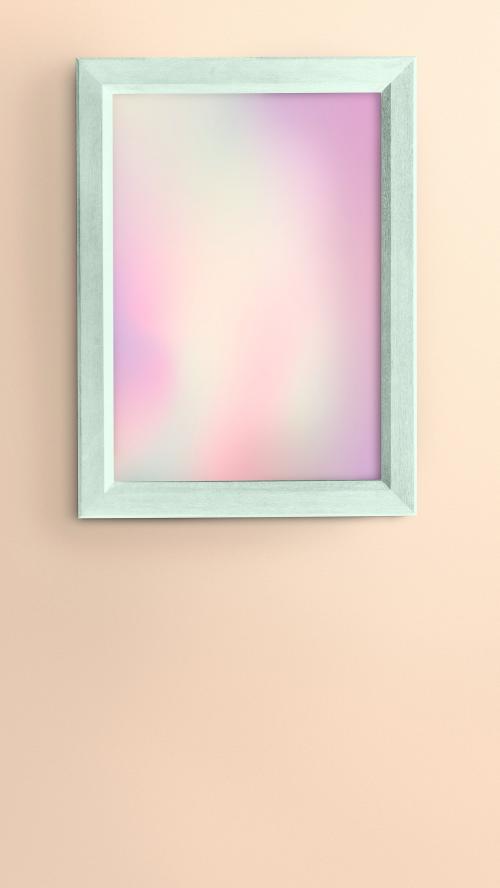 Green photo frame mockup - 2023144