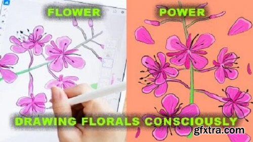 Flower Power: Drawing Florals Consciously | Flower Anatomy, Pencil, Watercolour, Adobe Fresco