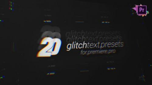 Videohive - 20 Glitch Text Presets Pack For Premiere Pro MOGRT - 26974957