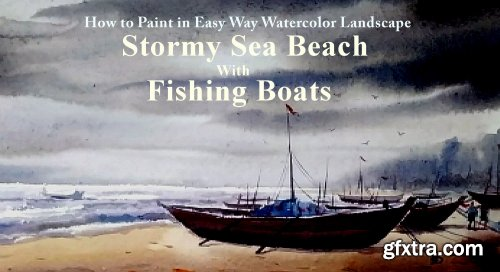 How to Paint in Easy Way Watercolor Landscape \
