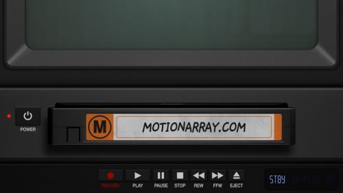 MotionArray - VHS Logo Animation Intro - 854329
