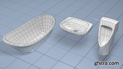 Basic Mesh Modeling with 3DSMAX: Sanitaryware Objects