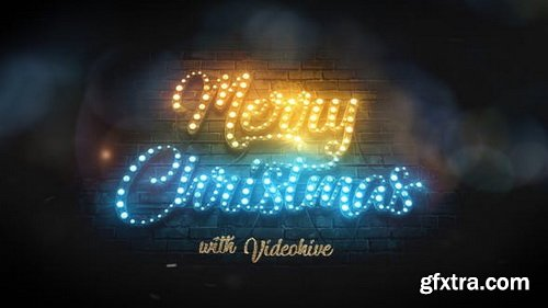 Videohive - Merry Christmas Light Bulbs - 29516457