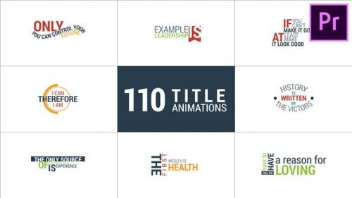 Videohive - 110 Title Animations - 22295907
