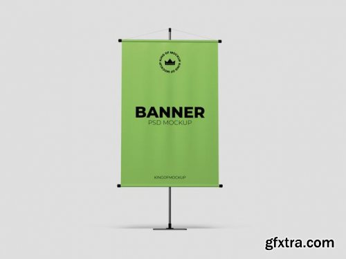 Various stand banner mockup