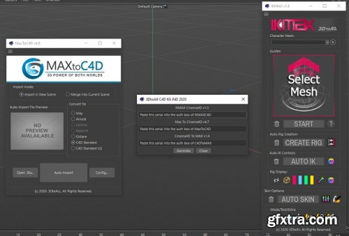 3DToAll Plugins For Cinema4D – MaxToC4D, IKMAX Cinema4D, C4DToMax