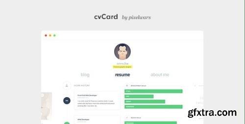 ThemeForest - cvCard WP v1.4.5 - Responsive WordPress Resume Theme - 7476245