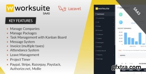 CodeCanyon - Worksuite Saas v3.9.1 - Project Management System - 23263417 - NULLED