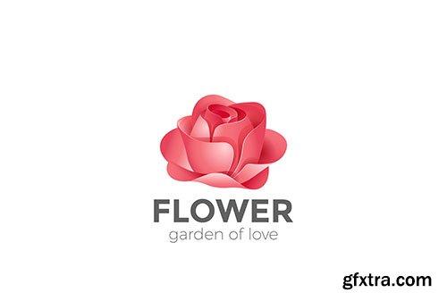 Rose flower garden logo