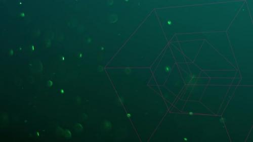 Videohive - Geometric cubes with glitters in space - 32275887
