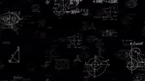 Videohive - Physics Math Formula And Diagrams 4K - 32290432