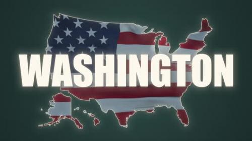 Videohive - Washington State of the United States of America - 30983144