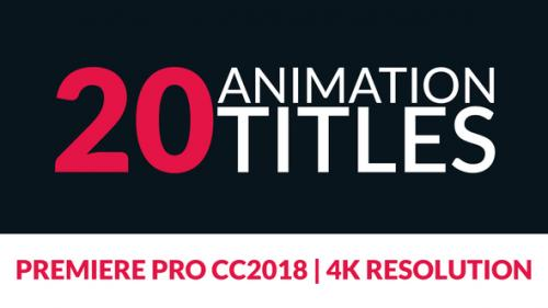 Videohive - 20 Title Animations for Premiere - 22608393