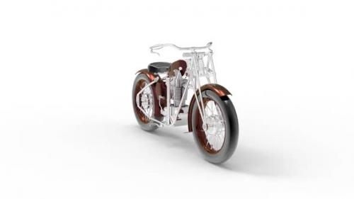 Videohive - Classic motorcycle in old style - 32469133