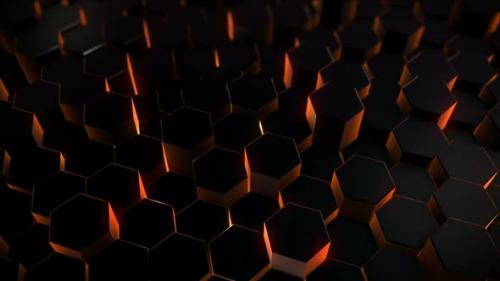 Videohive - Glowing Hexagons Background - 32507720