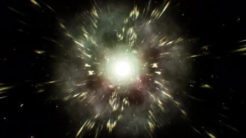 Videohive - Glowing Electric Energy Space Background Loop 4K - 32556164