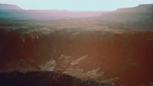 Videohive - Rocky Desert at Dramatic Sunrise - 32989402