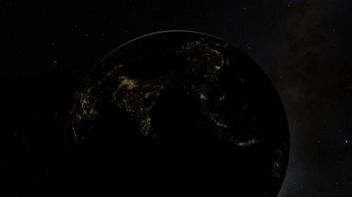 Videohive - Planet Earth Sunrise Over the Edge of South East Asia - 33057102