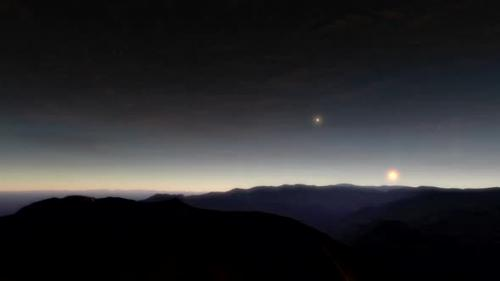 Videohive - No Mans Land - A sunrise timelapse animation showing an lifeless planet - 33227195