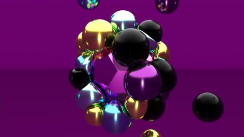 Videohive - Modern Soft Body Physics 3d Metal Elastic Shapes Bounce Concept Fluid Art - 33237950