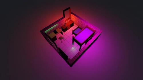 Videohive - Isometric bedroom layout - 33245016