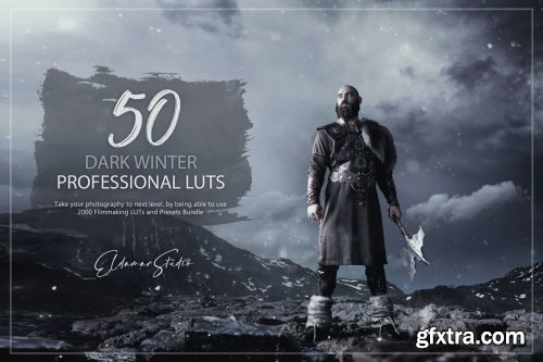 50 Dark Winter LUTs and Presets Pack