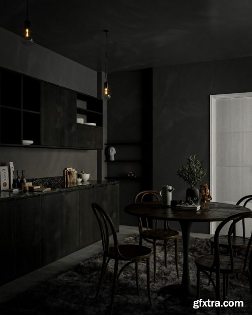 Kitchen Sketchup Scene by Long Nhat