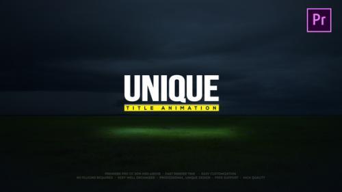 Videohive - Unique Title Animations - 24820436