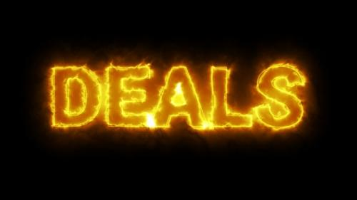 Videohive - Burning Deals Text Overlay With Fire Flame - 33549772
