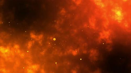 Videohive - Sparks ignited with orange transparent alpha channels glistening with burning ashes. - 33583220