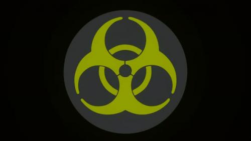 Videohive - Radiation green sign on a black background - 33668198