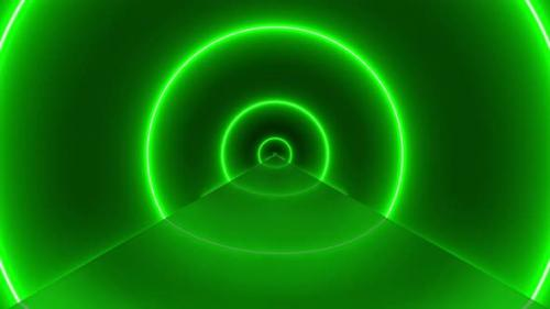 Videohive - Flight Inside Tunnel, Neon Light Abstract Background (8) - 34115659