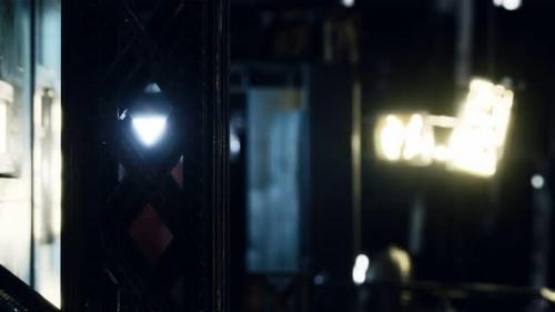 Videohive - Neon Lights at Rainy Night - 34136616